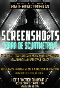 Seara de scurtmetraje – SCREENSHOrTS