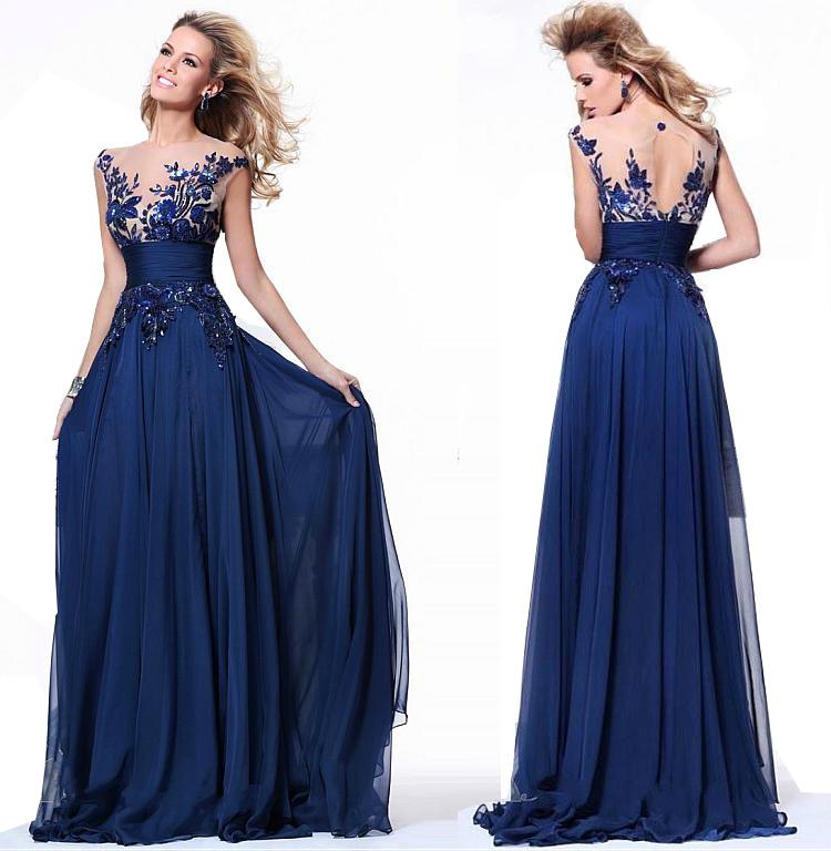 541-rochie-lunga-eleganta-albastra-dantela