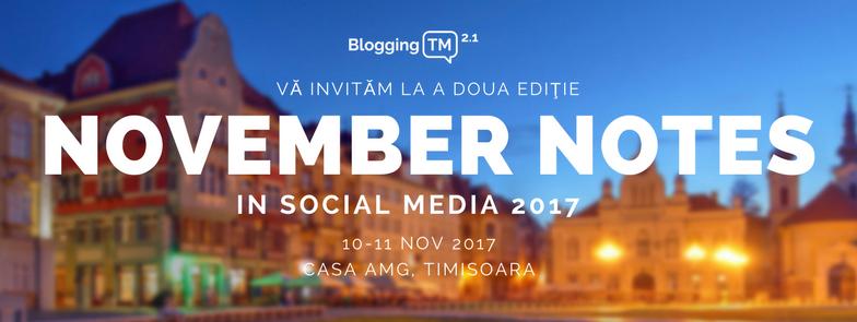 November Notes in Social Media 2017