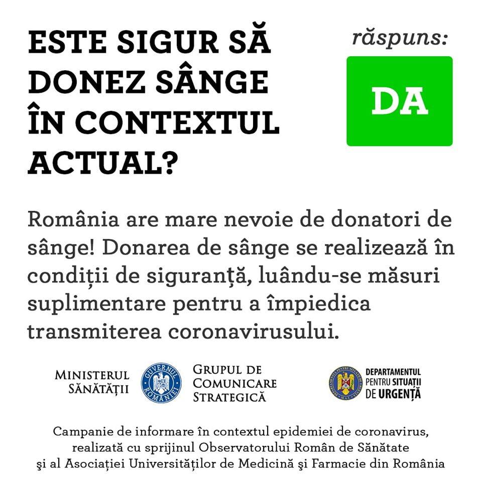 donorium reguli de donare pe timp de covid19